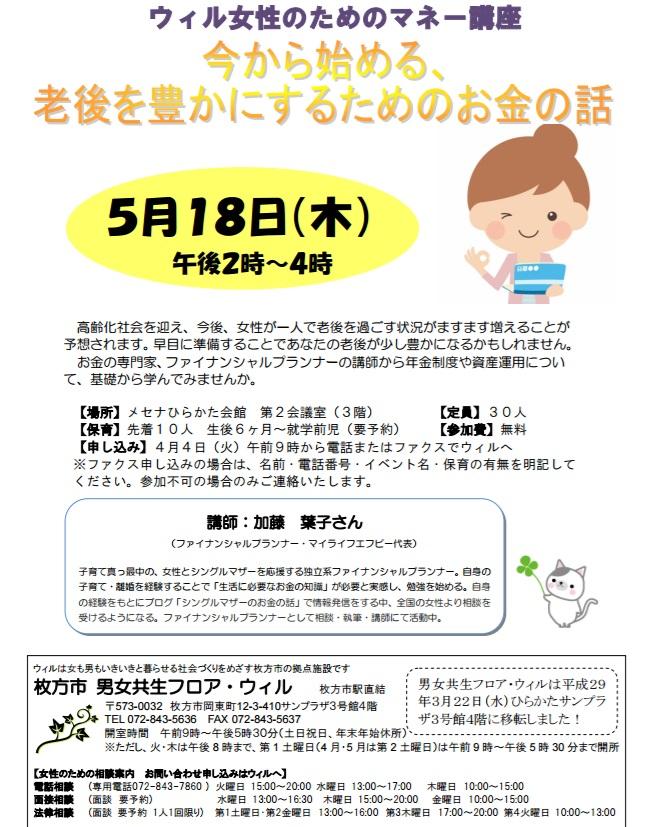 枚方市マネー講座